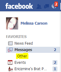 Find 'Other' Messages on FB